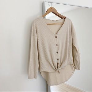 Liberty Love Ribbed Button Top